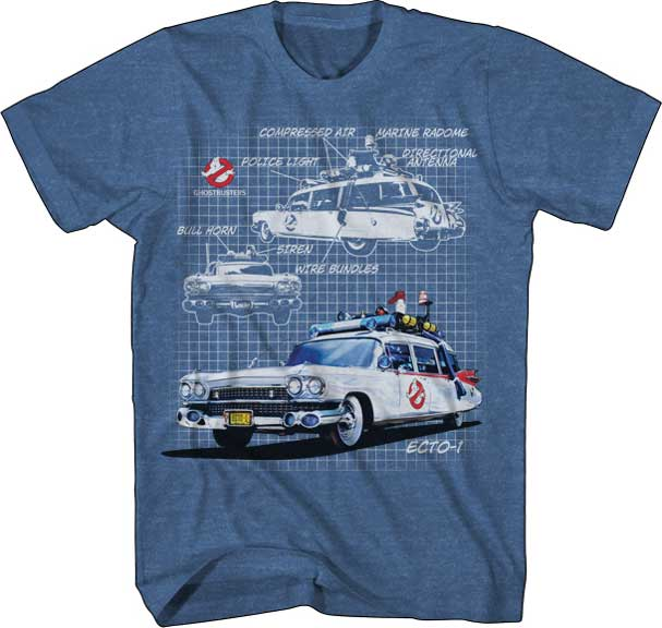 Ghostbusters Ecto-1 Schematics Shirt