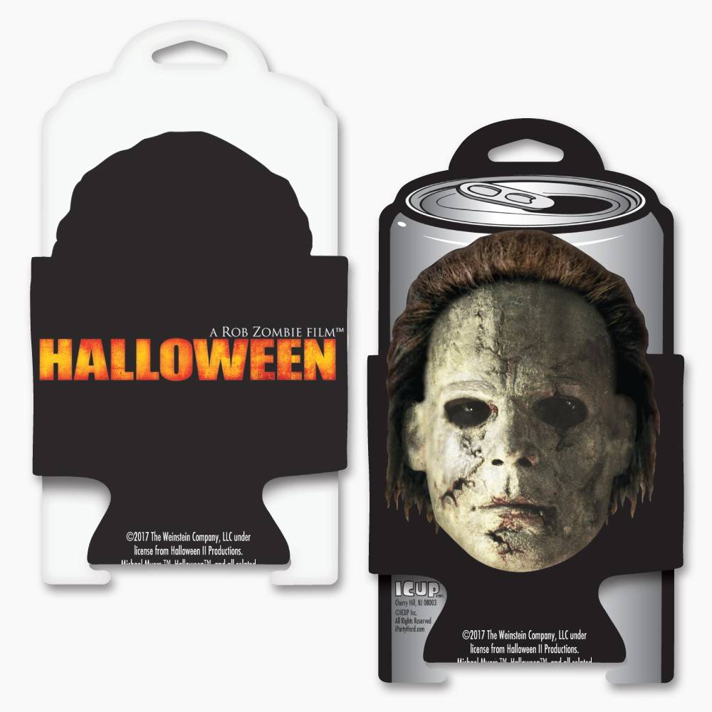 rob zombies halloween die cut can cooler