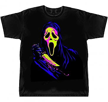 Scream Ghost Face Neon Shirt
