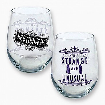 Beetlejuice Strange and Unusual Curved Table Glass
