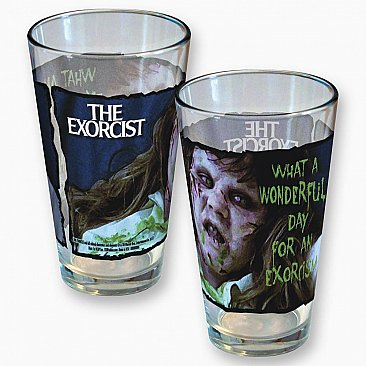 Pint Glasses: The Exorcist What A Wonderful Day