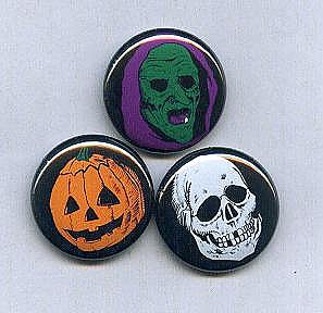 "Halloween Three Masks 1"" Button Set"