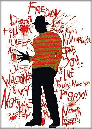 A Nightmare on Elm Street Red Magnet