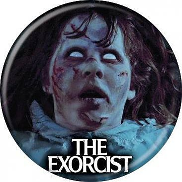 The Exorcist White Eyes Button