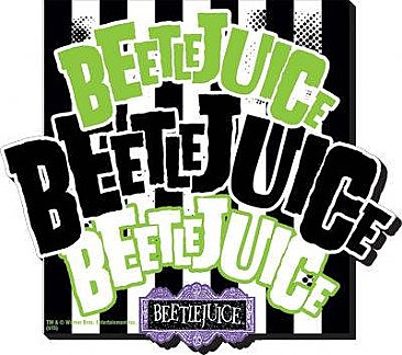 Beetlejuice Name x3 Funky Chunky Magnet