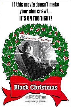 Black Christmas Magnet