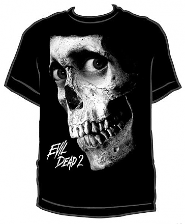 Evil Dead 2 Black & White Skull Shirt