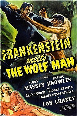 Frankenstein Meets The Wolf Man Magnet