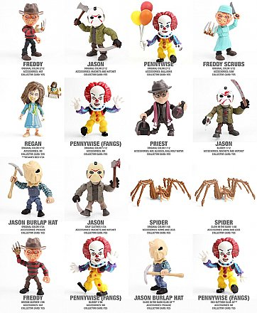 Loyal Subjects Horror Mini Figures Case of 12 Figure