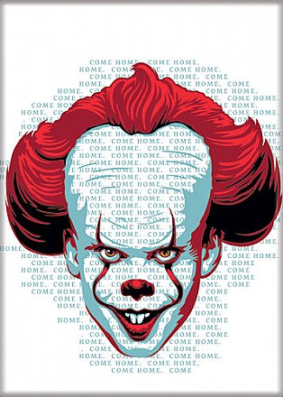 IT Pennywise With Words Magnet