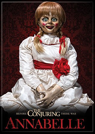 Annabelle on Red Alt Poster Magnet