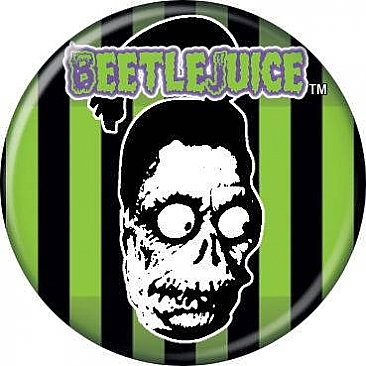 Beetlejuice Shrunken Head Button
