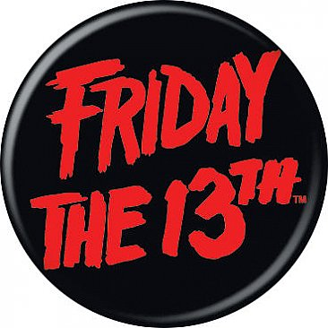 Friday the 13th Logo Button