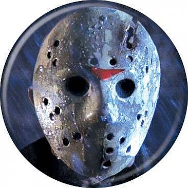 Friday the 13th Blue Mask Button
