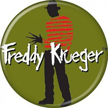 A Nightmare on Elm Street Green Freddy Button