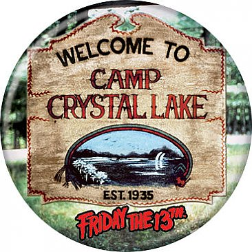 Welcome to Camp Crystal Lake Button