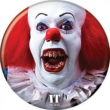 IT 1990 Pennywise Teeth Button