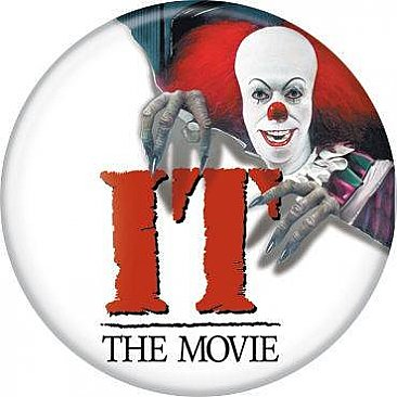 IT 1990 Pennywise Poster Button