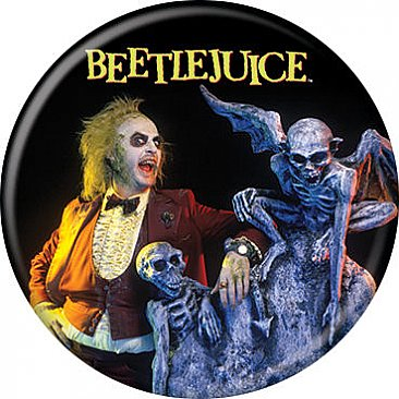 Beetlejuice And Tombstone Button