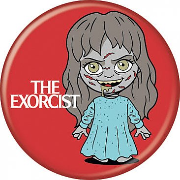 The Exorcist Reagan Chibi Button