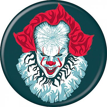 IT Pennywise Teal Button