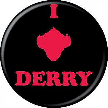 IT Pennywise I Heart Derry Button