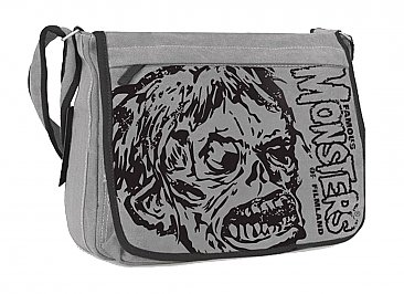 Famous Monsters of Filmland Shock Monster Gray Messenger Bag