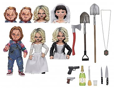 "Chucky Ultimate Bride of Chucky ""Chucky & Tiffany"" 2-Pack 7"" Scale Action Figures"