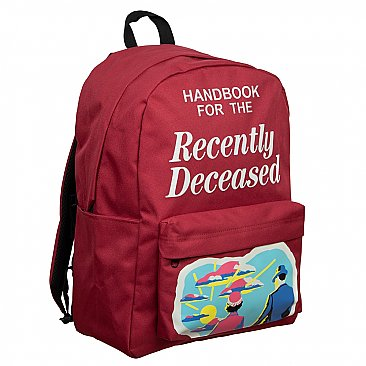 Beetlejuice Recently Deceased Laptop Backpack