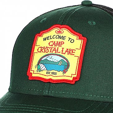Friday The 13th Camp Crystal Lake Patch Trucker