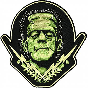 Universal Monsters Frankenstein Bolts Back Patch