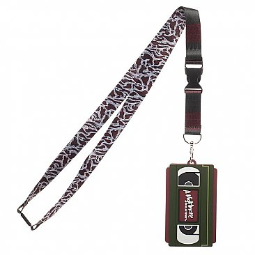 A Nightmare on Elm Street VHS Rubber ID Lanyard