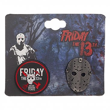 Friday the 13th Enamel Pin Set