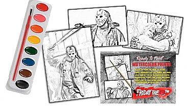 Friday the 13th Jason Voorhees Watercolor Art Paint Set