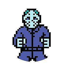 Friday the 13th 8-Bit Jason Button