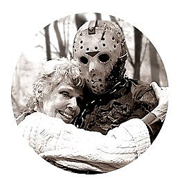 Friday the 13th Mom & Jason Button