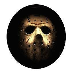 Friday the 13th Jason Mask Button