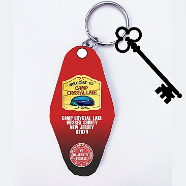Camp Crystal Lake Hotel Key Ring