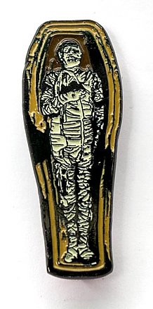 Universal Monsters The Mummy Coffin Enamel Pin